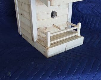 Birdhouse with railing