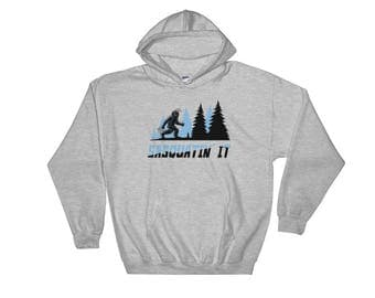 Easter Bunny, Sasquatch, Bigfoot, Hooded Sweatshirt