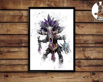 Diablo 3 Wich Doctor Print  wall art hme decor poster