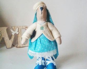 Интерьерный зайкаinterior doll handmade doll tilde textile  dolls for girls dolls toys for children handmade toys gift for children