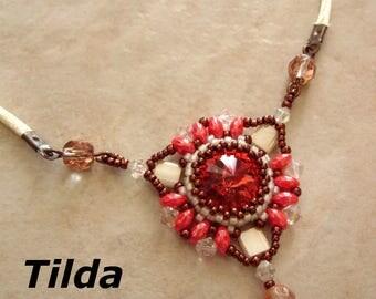 Tilda pendant beading pattern