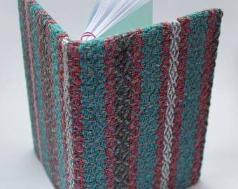 Bespoke handwoven fabric covered A6 notebook
