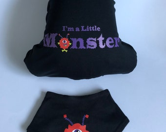 I'm a Little Monster all in one and bandana bib