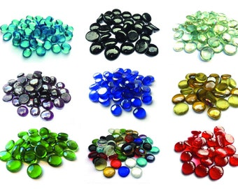 Round Glass Pebbles / Stones / Beads / Nuggets / Cabochons - Home Decor - Craft - Mosaic - Weddings - Vases