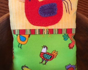 kit; Funky Chicken pincushion, 3 color options