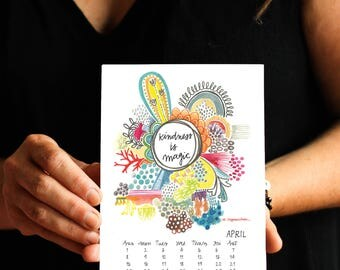 2018 Calendar - 5x7 inches