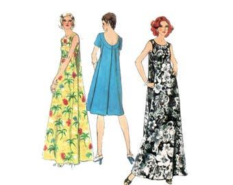 70s uncut Muu Muu Pattern 34-26-36 Hawaiian Dress vintage Sundress pattern Caftan Maxi Dress pattern muumuu Simplicity 6397