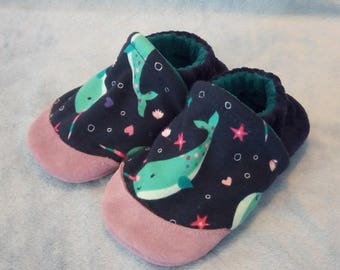 Narwhals: Soft Sole Baby Shoes 18-24M