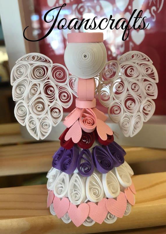 Valentine Angel design in Quilling