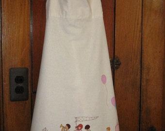 Girl Summer Sun Dress  Sarah Jane Children at Play Fabric Size 7