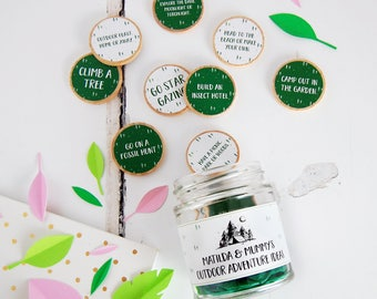 Mummy's Outdoor Adventures Ideas Personalised Jar - Mother's Day Gift - Personalised Mother's Day - Adventure Jar