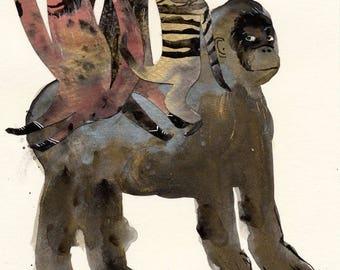 The Rider Original / gouache painting