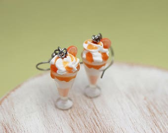 Boozy Orange Cream Milkshake Earrings