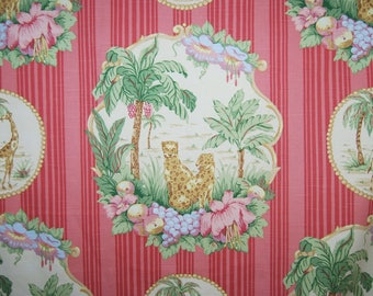 Pat Freund upholstery fabric Shabby Chic Out of African style fabric P. Kaufman upholstery fabric cheetah giraffe theme