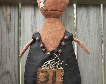 Halloween Primitive Pumpkin doll  Esmerelda  385e Primitive Crows Roost Prims epattern immediate download