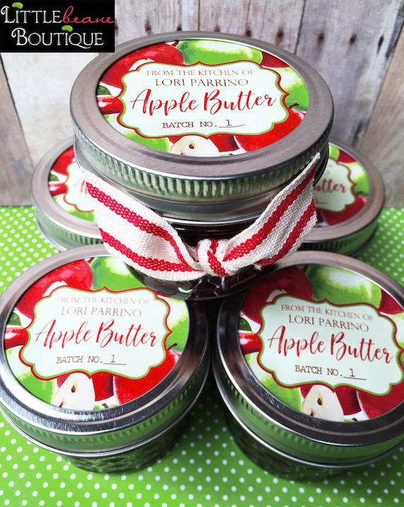 apple butter labels applesauce canning labels mason jar labels