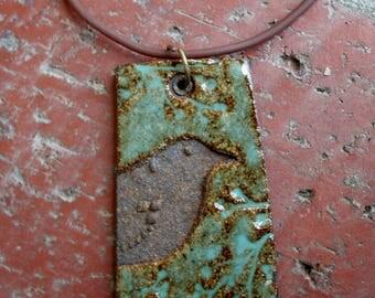 Rustic Bird Stoneware Pendant