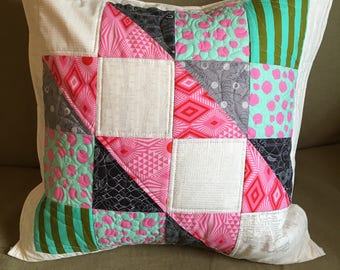 "Custom 20"" quilted pillow cover"