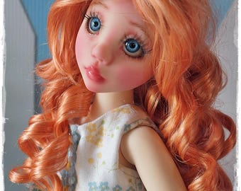 light carrot red wig - Long Curls