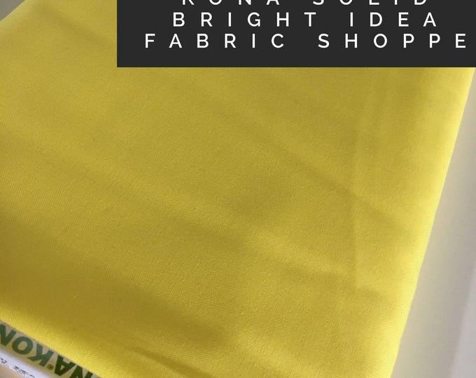 Kona cotton solid quilt fabric, Kona BRIGHT IDEA 1838, Solid fabric Yardage, Kaufman, Quilting Cotton fabric, Choose the cut