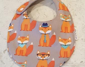 Foxes Fox Novelty Baby Boy Toddler Bib, everyday eating