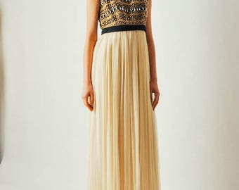 ON SALE Vintage 1970s Sabina of India Gown