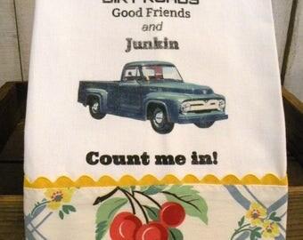 Junking Old truck towel Shabby Prairie Farmhouse cotton ECS RDT FVGteam