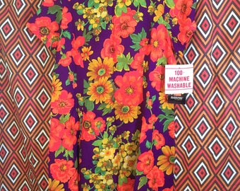 Vintage wild print plus size dress NWT XL 14 16 18