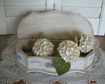 Treasure Keepsake Box Storage Wooden Handmade Handpainted Solid Wood Victorian Design Stationery Box Jewelry Box ASCP Annie Sloan Old White