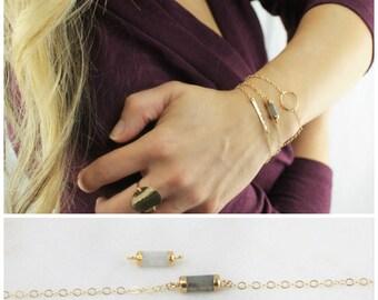 Gemstone Bracelet, Gift for Women, Bridesmaids Gifts, The Silver Wren, Gift Idea, Dainty Jewelry, Dainty Bracelet, Gold Bracelet
