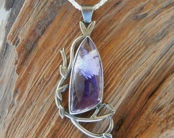 Elven Inspired Bridewell Stone Silver Pendant