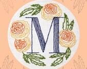 Monogram Flower PDF Pattern - M is for Marigold
