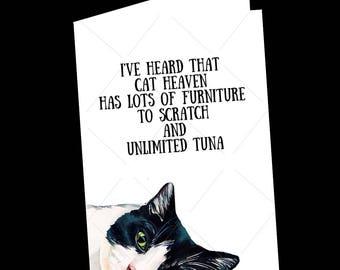 Cat Condolence Card-Cat Lover-Cat Sympathy