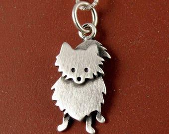 Tiny Pomeranian pendant / necklace