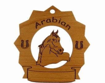8049 Arabian Head  Personalized Wood Ornament