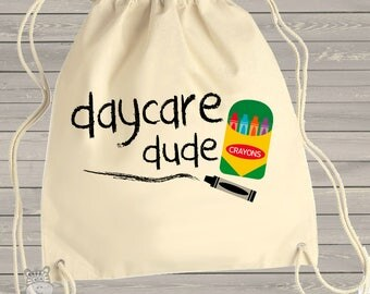 Student cinch sac - adorable daycare dude personalized cinch sac MSCL-094-B