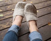 Crochet Pattern - Adult Little Wrap Slippers