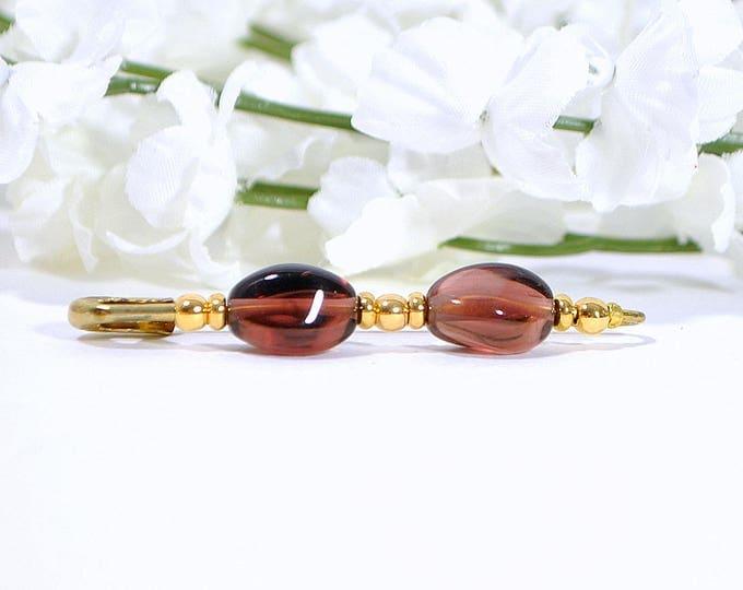 Hijab Pin Beaded Scarf Pin Purple Gold Sarong Pin Handmade Lapel Pin Embellished Pin Brooch