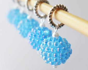 SALE - Cloudberries - Farm Fresh Series - Five Handmade Stitch Markers - Fits Up To 6.0 mm (10 US) - Last Sets