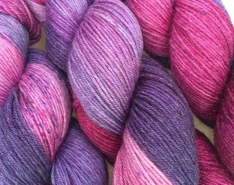 Merino Bamboo Sock Yarn 100 Grams 'Berrylicious' Colourway