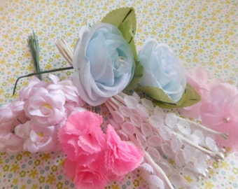 Vintage Millinery - Thirty Four Stems in All - Spring Crafts and Wreaths