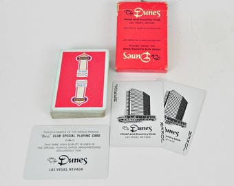 Complete Pack of Vintage Red Dunes Playing Cards