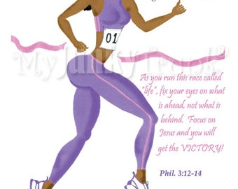 Glorious Gluteous- African American Art Black Woman Art Runner Print