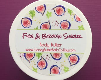 Figs & Brown Sugar | Body Butter | Lotion | Cream | Fig | Sweet | Harvest | Purple | Green | Unique | Gift | Mom | Bakery | Bath | Soothing