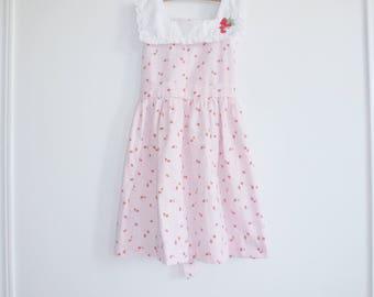 Vintage Girl's Strawberry Dress