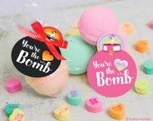 "printable You're The Bomb! bath bomb gift tag INSTANT DOWNLOAD ""You're the BOMB "" easy print at home cute unique gift tags"
