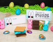 Easter S'mores Peep Kit Treat Topper printable bunny candy bag topper for ziploc snack bag candy party favors smores kids gift treat topper