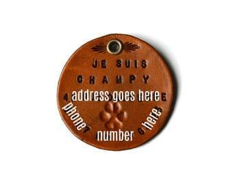 Médaille pour collier de chien, identification pour chien, accessoires de collier de chien, identification pour chiens, médaille pour chien