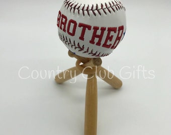 Brother Gift | Personalized baseball | Baseball Sister | Little league | embroidered baseball | Commemorative Baseball | Gift for Him