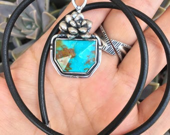 DEAL of the DAY - Turquoise Succulent Pot Necklace
